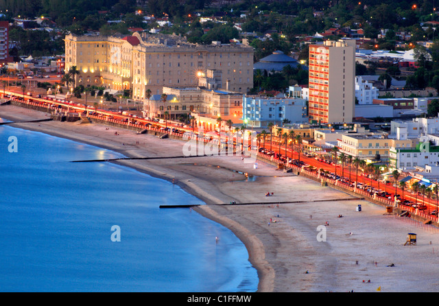 Aerial view of Piriapolis City and beach. Maldonado, Uruguay, south America - Stock Image