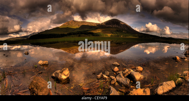 Road to Elgol, Isle of Skye, Scotland panorama landscape from Scottish inner Hebrides - Stock Image