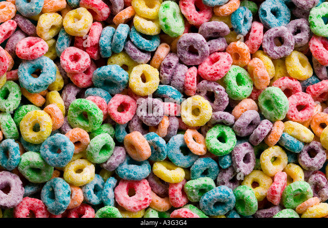 Colorfull Breakfast Cerial - Stock Image