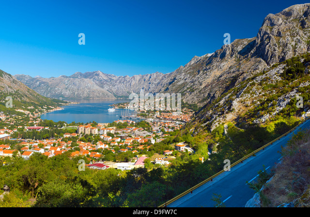 Kotor, Bay of Kotor, UNESCO World Heritage Site, Montenegro - Stock Image