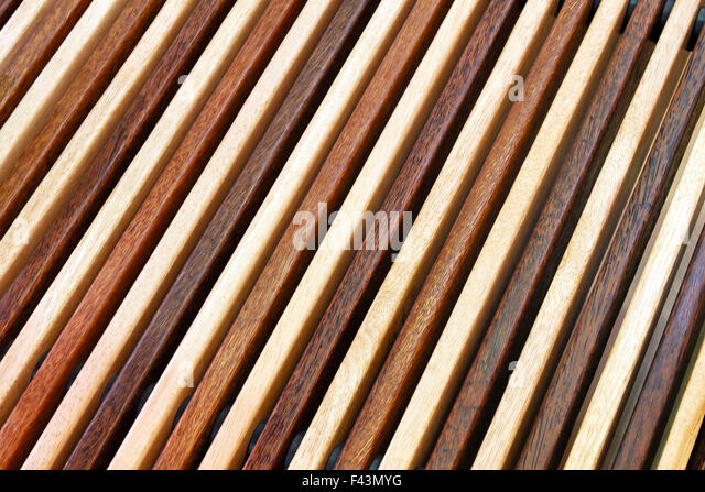 Two tone diagonal wood lines background - Stock Image
