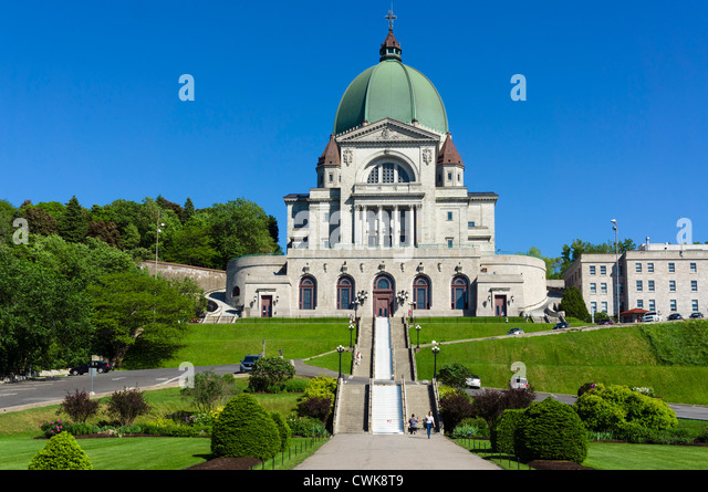 Oratoire Saint-Joseph du Mont-Royal (St Joseph's Oratory), Mount Royal, Montreal, Quebec, Canada - Stock Image