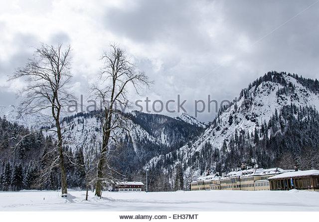 Europe, Germany, Bavaria,  German politics, CSU  regional meeting point in Wildbad Kreuth, near Tegernsee - Stock Image