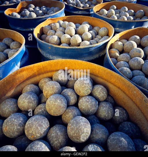 Roller Mill Cement Balls : Concrete balls stock photos images