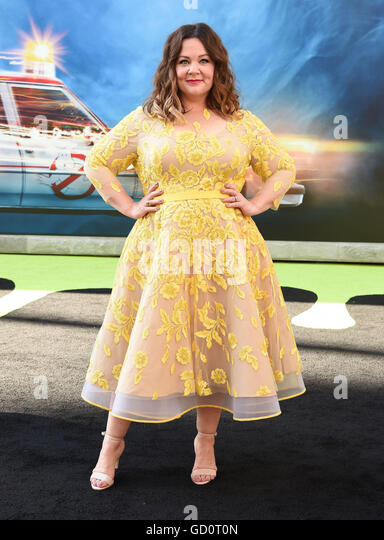 Hollywood, California, USA. 9th July, 2016. Melissa McCarthy arrives for the premiere of the film 'Ghostbusters' - Stock Image
