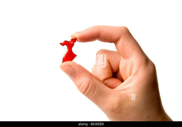 Women's heart disease pin   'Go Red For Women cause initiative' - Stock Image