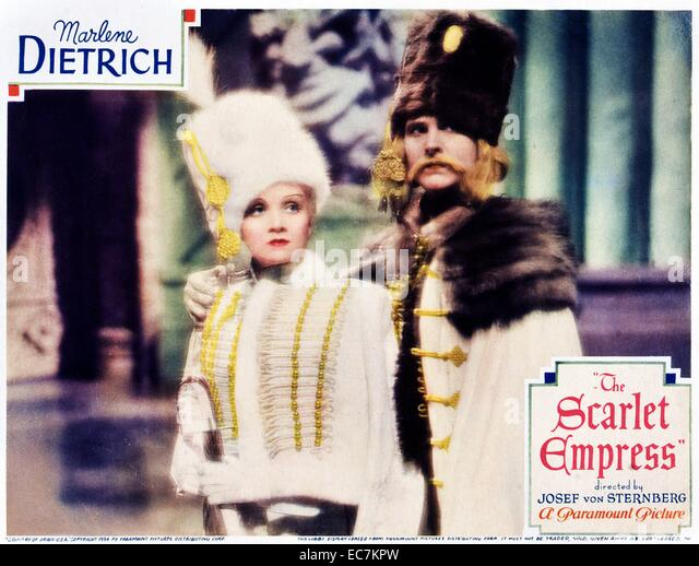 Marlene Dietrich, German, actress, movies, film, cinema, icon, singer, catherine the great, russia - Stock Image