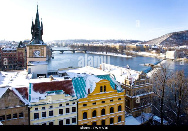 Karlovy lazne, Novotneho lavka, Praha (UNESCO), Ceska republika - Stock-Bilder