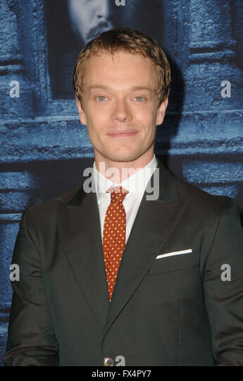 Hollywood, CA, USA. 10th Apr, 2016. Alfie Allen. Arrivals for the Premiere Of HBO's ''Game Of Thrones'' - Stock Image