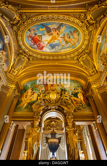 Grand Foyer Du Palais Garnier : Paris opera house interior stock photos