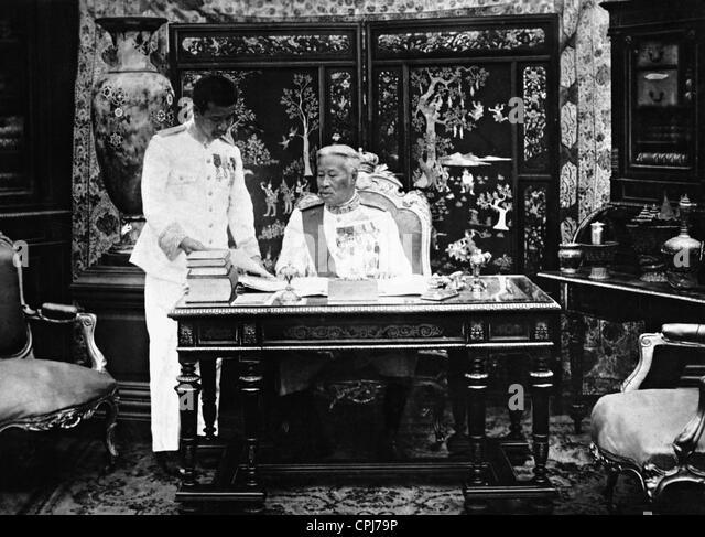 King Sisowath of Cambodia, 1927 - Stock Image