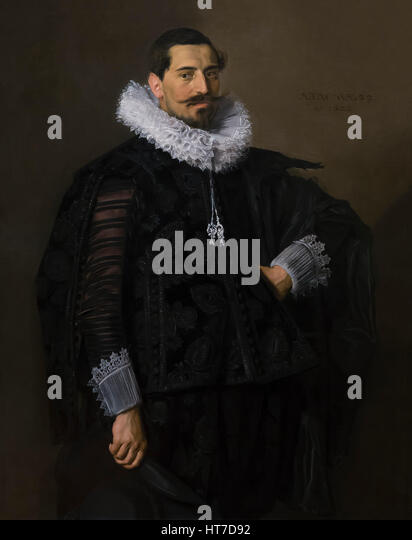 Portrait of Jacob Olycan, by Frans Hals, 1625, Royal Art Gallery, Mauritshuis Museum, The Hague, Netherlands, Europe - Stock Image
