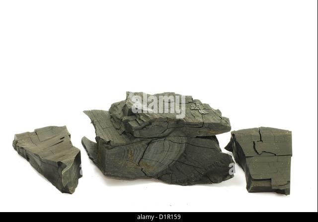 Black coal isolated - Stock-Bilder