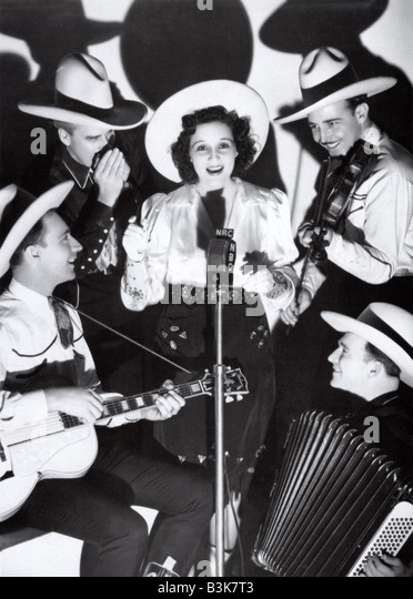 LOUISE MASSEY AND THE WESTENERS  US Country & Western group in 1940s - Stock Image