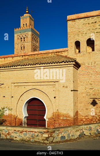 Koutoubia Mosque, Marrakesh, Morocco, North Africa - Stock Image