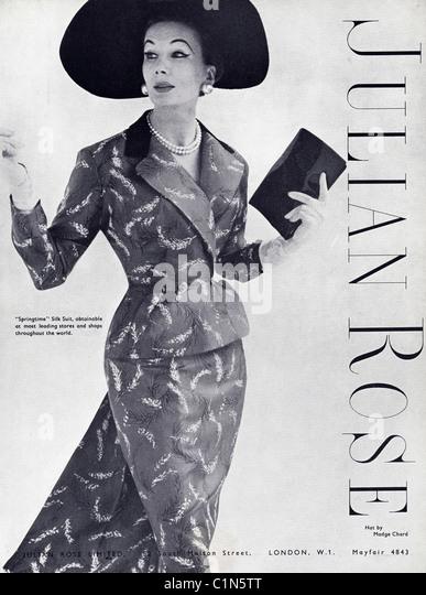 Original full page 1950s advert in women s fashion magazine for julian