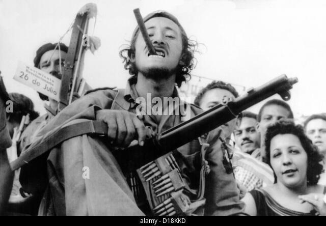 Guerrilla soldier enters Havana with Castro's victorious rebel forces on Jan. 8, 1959. (CSU_ALPHA_1616) CSU - Stock-Bilder