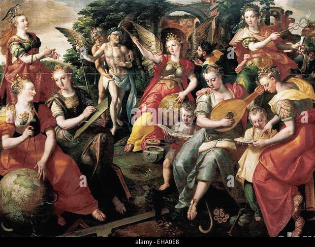 Maarten de Vos  Allegory of the Seven Liberal Arts - Stock-Bilder