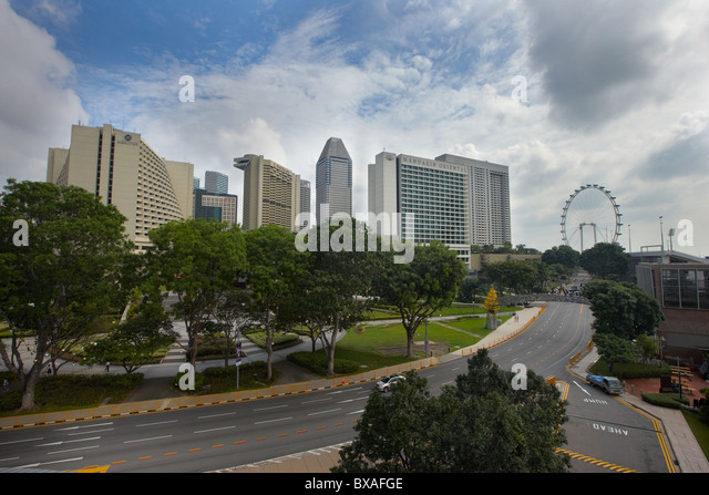 Raffles Avenue, Singapore - Stock Image