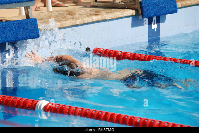 Kids swimming competition