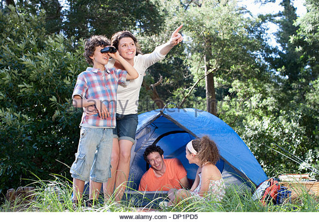 Family camping - Stock Image