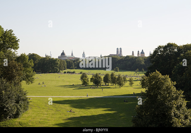 English garden munich - Stock Image