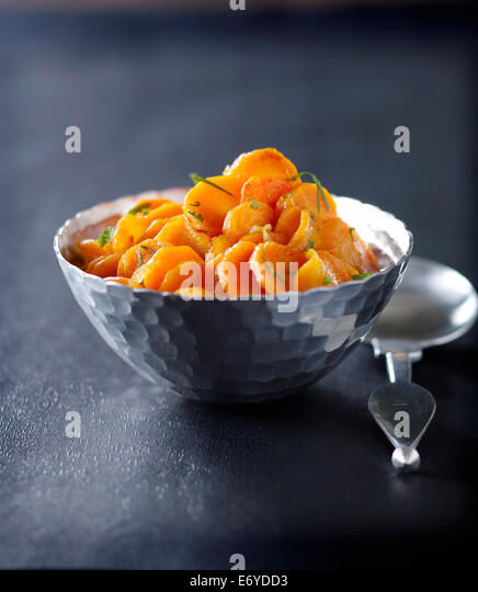 Spicy carrots with honey - Stock Image