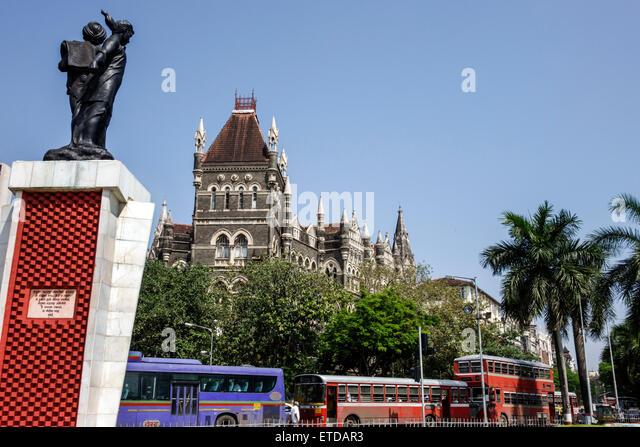 Mumbai India Indian Asian Fort Mumbai Kala Ghoda Floral Fountain Hutatma Chowk Martyr's Square Samyukta Maharashtra - Stock Image