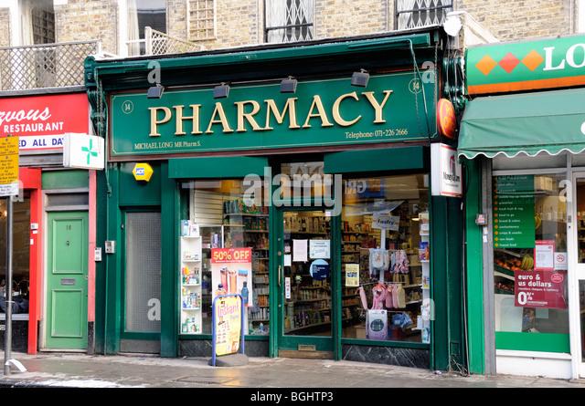 Pharmacy or Chemist Highbury Barn Islington London England UK - Stock Image