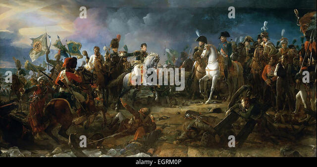 Napoleon at the Battle of Austerlitz, by François Gérard 1805. The Battle of Austerlitz, also known as - Stock Image