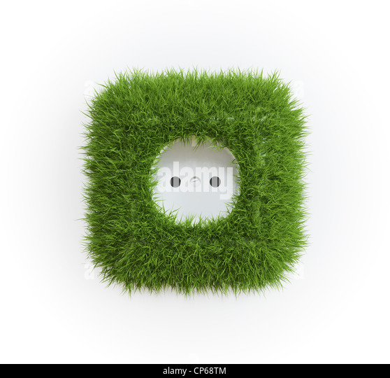 Grass covered outlet - renewable energy concept - Stock-Bilder