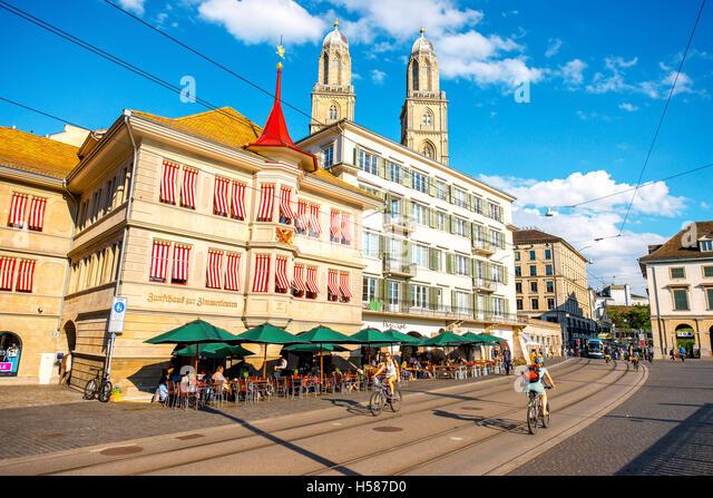 Zurich city in Switzerland - Stock Image