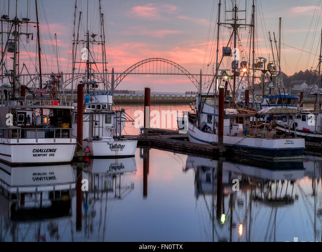 Harbor sunsets tranquil stock photos harbor sunsets for Newport harbor fishing