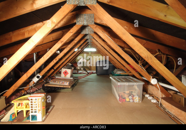 attic storage ideas with trusses - Attic Stock s & Attic Stock Alamy