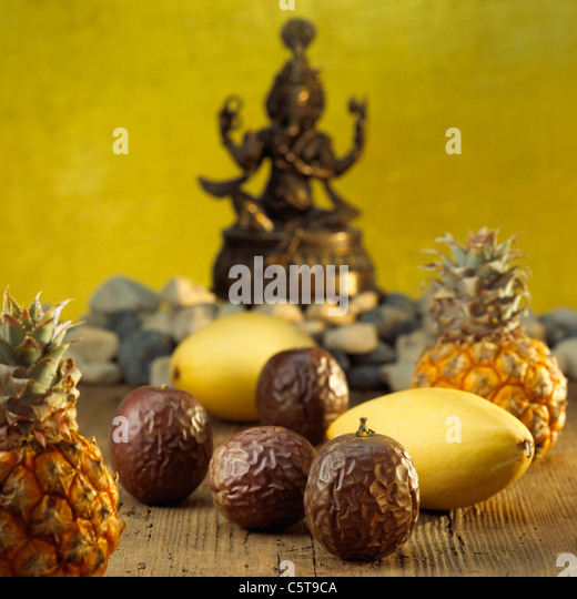 Different tropic fruits - Stock Image