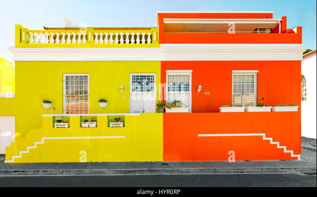 Bo-Kaap in Cape Town - Stock Image