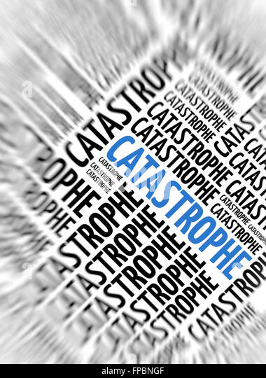 Marketing background - Catastrophe - blur and focus - Stock Image