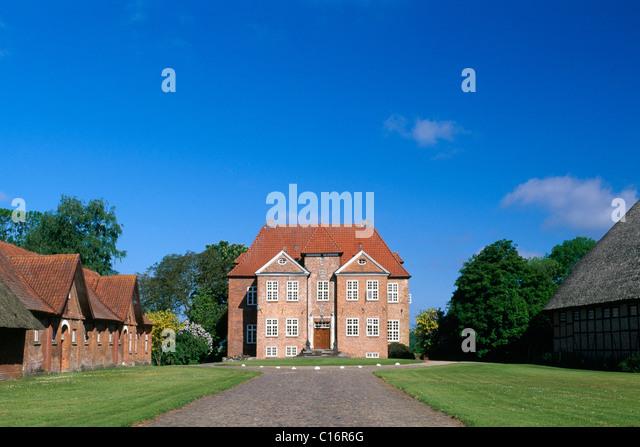 Gut Wahlstorf stately home, Holsteinische Schweiz, Schleswig-Holstein, Germany, Europe - Stock Image