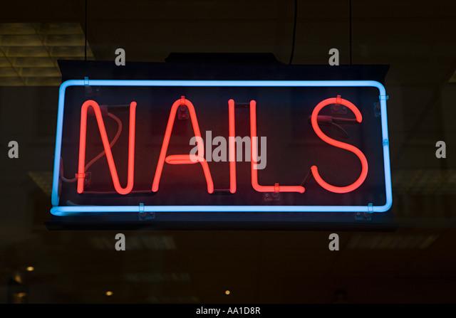 Nail bar sign - Stock-Bilder