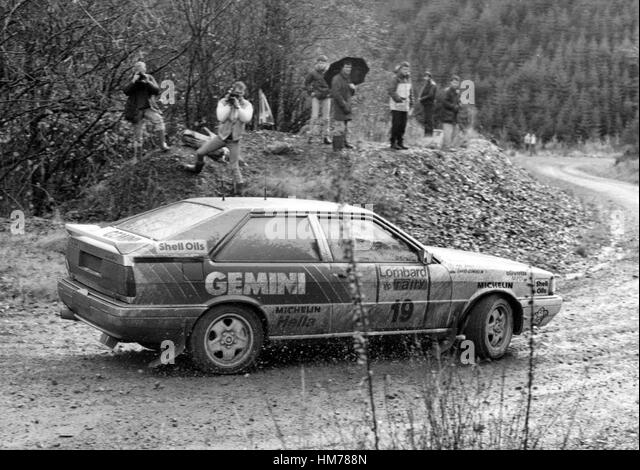 Audi Quattro David Llewellin, 1987 RAC rally - Stock Image