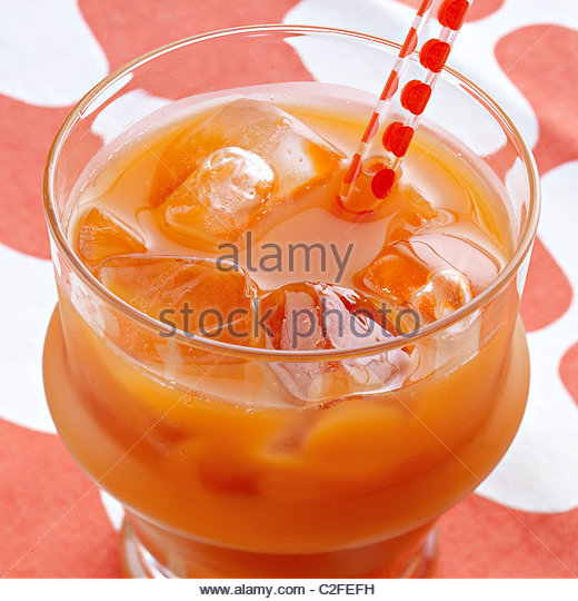 Vegetable juice carrot juice - Stock Image