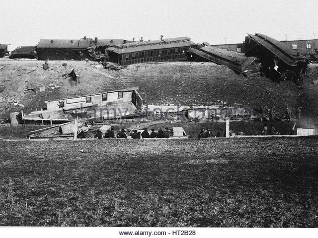 The Borki train disaster on October 29, 1888, 1888. Artist: Anonymous - Stock-Bilder
