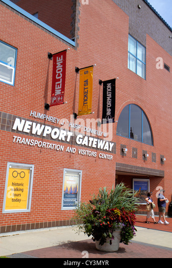 Rhode Island Newport Discover Newport Visitors Center information entrance front - Stock Image