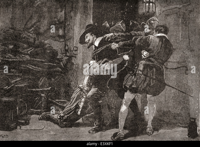 The arrest of Guy Fawkes. - Stock Image