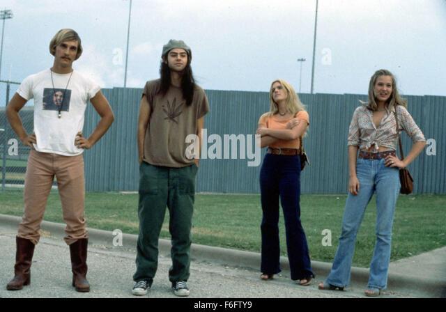 Sep 10, 1993; Austin, TX, USA; MATTHEW MCCONAUGHEY, RORY COCHRANE, DEENA MARTIN and JOEY LAUREN ADAMS star as David - Stock Image