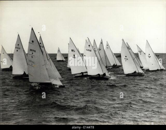 Apr. 04, 2012 - Jeux Olympiques 1952: Yachting. - Stock Image