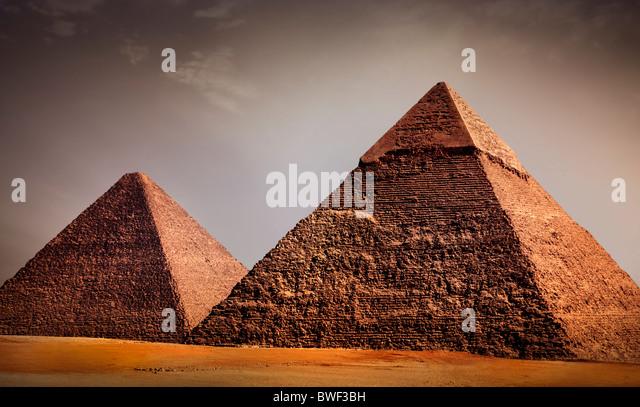 giza pyramids, cairo, egypt - Stock Image