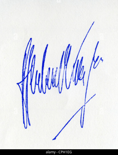 Karajan, Herbert von, 5.4.1908 - 16.7.1989, Austrian musician (conductor), his signature, autograph, - Stock Image