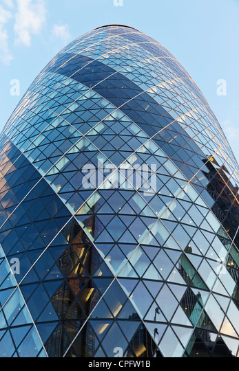 England,London,The City,Detail of The Gherkin Building  - Stock Image