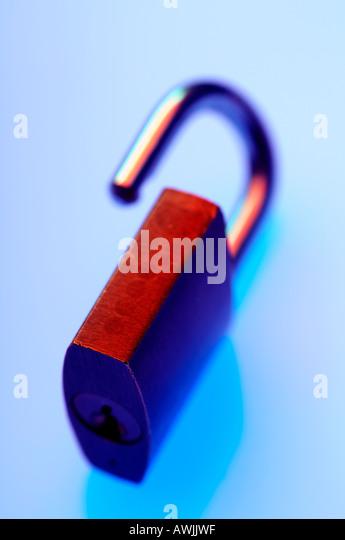 Open padlock - Stock Image